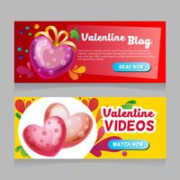 valentine heart decoration web banner