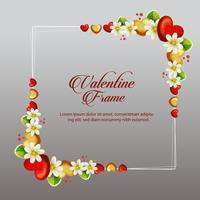 tarjeta de marco floral de san valentín