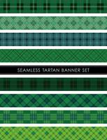 Seamless Tartan plaid banner set, vektor illustration.
