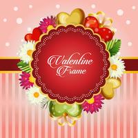 valentine card decorate with daisy flower
