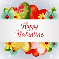 valentine card with yellow spring flower
