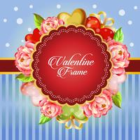 valentine card decorate camellia flower