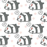 Seamless panda is lazy pattern.