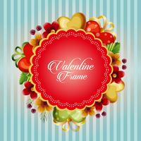 valentine card with flower love