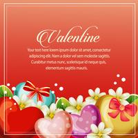 valentine card heart jasmine decoration