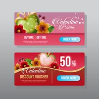 valentine web banner ornate love flower