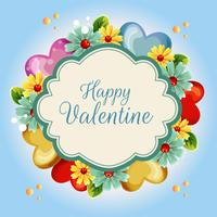 yellow flower valentine illustration blue background