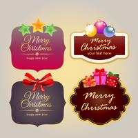 christmas stickers with decoration