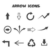 símbolo de ícones de seta