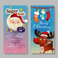 banner blue in christmas theme