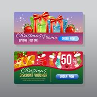 christmas discount web banner with present