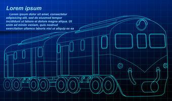 Vehicle outline on blueprint background.