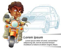 Personaggio Rider in stile cartoon.