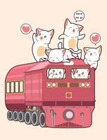 Gato Kawaii no trem