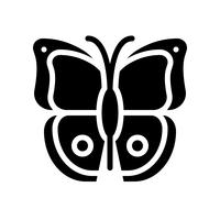 Butterfly vector, tropical related solid style icon