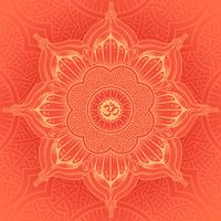Vector background round Yoga mandala.