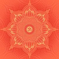 Vektorhintergrundrunde Yoga-Mandala.