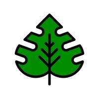 Vector de hoja tropical, icono de estilo relleno relacionado tropical