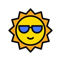 Sun vector, tropical related filled style icon