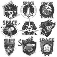 Conjunto de espaço de ícones do vetor.