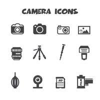 símbolo de los iconos de la cámara