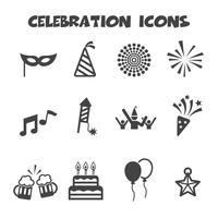 symbole d'icônes de célébration