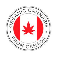 Organic Cannabis from Canada icon.  vector