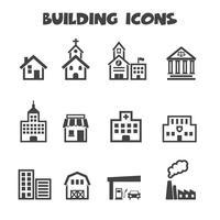 Gebäude Symbole Symbol