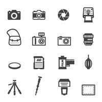 icônes de la caméra et de l'équipement