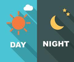 giorno e notte lunga ombra piatta