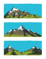 Ensemble de montagnes illustration vectorielle