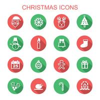 christmas long shadow icons