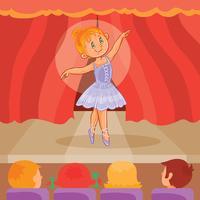 Bailarina menina dando uma apresentação