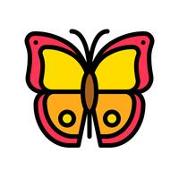 Butterfly vector, tropical related filled style icon