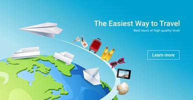 Laddar sidan webbplats för att tillhandahålla turisttjänster