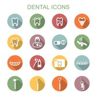 dental long shadow icons