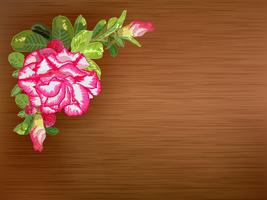 Texture label decorated with desert rose vector