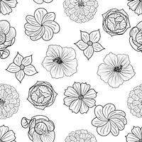 Padrão floral sem emenda de vetor