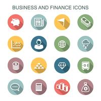 business and finance long shadow icons