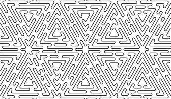 Monochrome doodle art deco abstract seamless background with stroke line.
