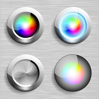 Color button on eps vector graphic art.