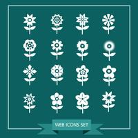 Flower Icon Set for website