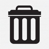 Trash can icon symbol Illustration