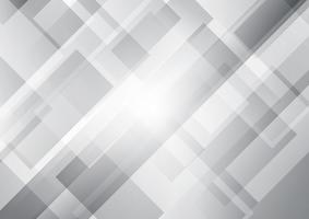 Abstract white and gray squares shape geometric overlapping background.