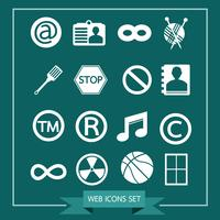 Set van web-iconen voor website en communicatie