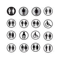Silhouette people icons illustration