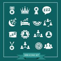 Conjunto de iconos web para web y comunicación. vector