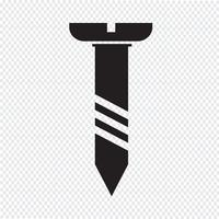 screw icon symbol Illustration