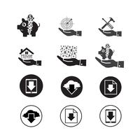 Set of web icons for website and communication vector