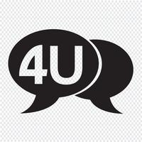 4U Internet-Akronym-Chat-Blasenillustration
